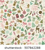 seamless background with... | Shutterstock .eps vector #507862288