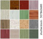 seamless tiling wood textures... | Shutterstock . vector #507863680