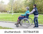 grandson is pushing his... | Shutterstock . vector #507866938