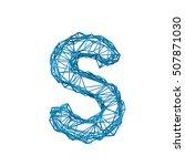 wire frame geometric letter s.... | Shutterstock . vector #507871030