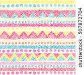 seamless geometric pattern in... | Shutterstock .eps vector #507872704