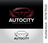 'autocity' car logotype   car... | Shutterstock .eps vector #507875020