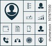 set of hr icons on job... | Shutterstock .eps vector #507875530