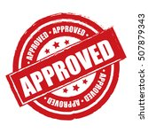 red approved label  sticker or... | Shutterstock . vector #507879343