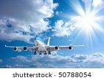 plane in the sky   Shutterstock . vector #50788054
