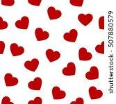 heart shape seamless pattern... | Shutterstock .eps vector #507880579