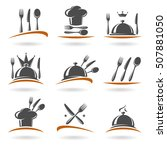 restaurant labels set. vector | Shutterstock .eps vector #507881050