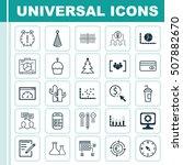 set of 25 universal editable...   Shutterstock .eps vector #507882670