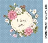 bouquet of flowers. wedding...   Shutterstock .eps vector #507893188