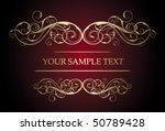golden vintage style   Shutterstock .eps vector #50789428