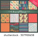 collection of nine hand drawn... | Shutterstock .eps vector #507900658