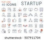 set vector line icons startup... | Shutterstock .eps vector #507911704