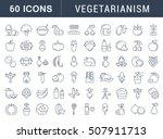 set vector line icons in flat... | Shutterstock .eps vector #507911713