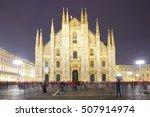 milan cathedral  duomo di...   Shutterstock . vector #507914974