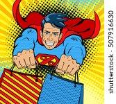 dynamic superhero. young... | Shutterstock .eps vector #507916630