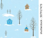 seamless winter background with ... | Shutterstock .eps vector #507917473