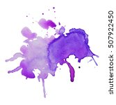 expressive abstract watercolor... | Shutterstock .eps vector #507922450