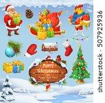 Santa Claus And Christmas Tree. ...