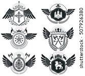 heraldic signs vector vintage... | Shutterstock .eps vector #507926380