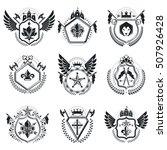 heraldic coat of arms... | Shutterstock .eps vector #507926428