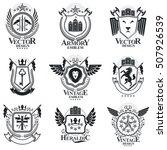 heraldic signs vector vintage...   Shutterstock .eps vector #507926539