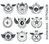 heraldic signs vector vintage...   Shutterstock .eps vector #507926638