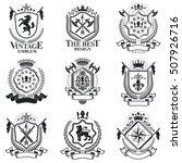 vintage heraldry design... | Shutterstock .eps vector #507926716