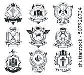 vintage heraldry design... | Shutterstock .eps vector #507926734