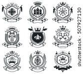 vintage heraldry design... | Shutterstock .eps vector #507927130