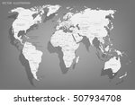 political map of the world.... | Shutterstock .eps vector #507934708