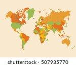 colorful world map illustration | Shutterstock .eps vector #507935770
