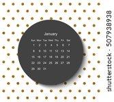 2017 january calendar.modern... | Shutterstock . vector #507938938