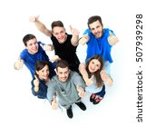 happy joyful group of friends... | Shutterstock . vector #507939298