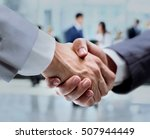 business handshake and business ... | Shutterstock . vector #507944449