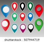 set of map pointers. vector... | Shutterstock .eps vector #507944719