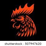 Head Rooster Illustration...