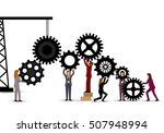 business people teamwork  ... | Shutterstock .eps vector #507948994