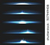 blue horizontal lens flares... | Shutterstock .eps vector #507949408