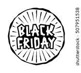 black friday sale handmade... | Shutterstock .eps vector #507951538