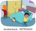 stickman illustration of kids... | Shutterstock .eps vector #507955024