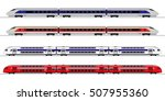 passenger express train.... | Shutterstock .eps vector #507955360
