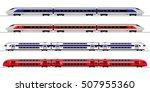 passenger express train.... | Shutterstock .eps vector #507955360