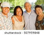 asian parents and their adult... | Shutterstock . vector #507959848