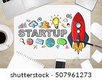 startup presentation with... | Shutterstock . vector #507961273