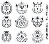 heraldic designs  vector...   Shutterstock .eps vector #507967300