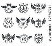 vintage emblems  vector... | Shutterstock .eps vector #507967354