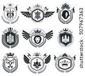 heraldic designs  vector... | Shutterstock .eps vector #507967363