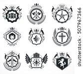 vintage emblems  vector... | Shutterstock .eps vector #507967366