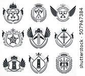 heraldic designs  vector... | Shutterstock .eps vector #507967384