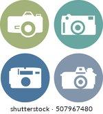 vector photo camera icons set...